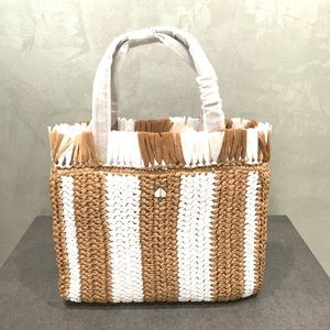*NWT* KATE SPADE STRIPED STRAW SATCHEL